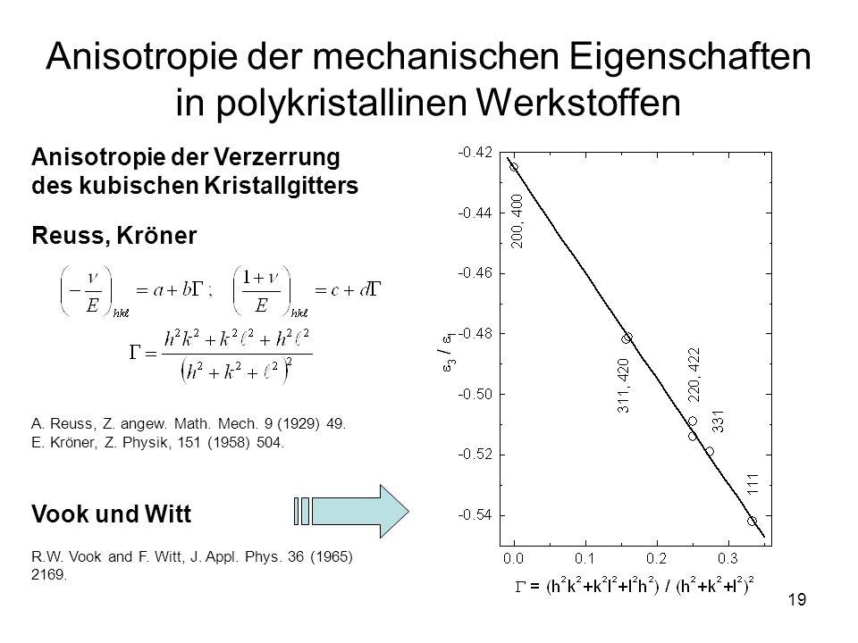 Anisotropie der mechanischen Eigenschaften in polykristallinen Werkstoffen