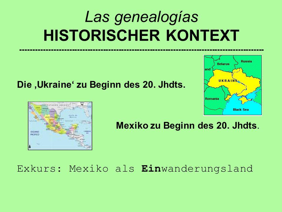 Las genealogías HISTORISCHER KONTEXT ----------------------------------------------------------------------------------------------