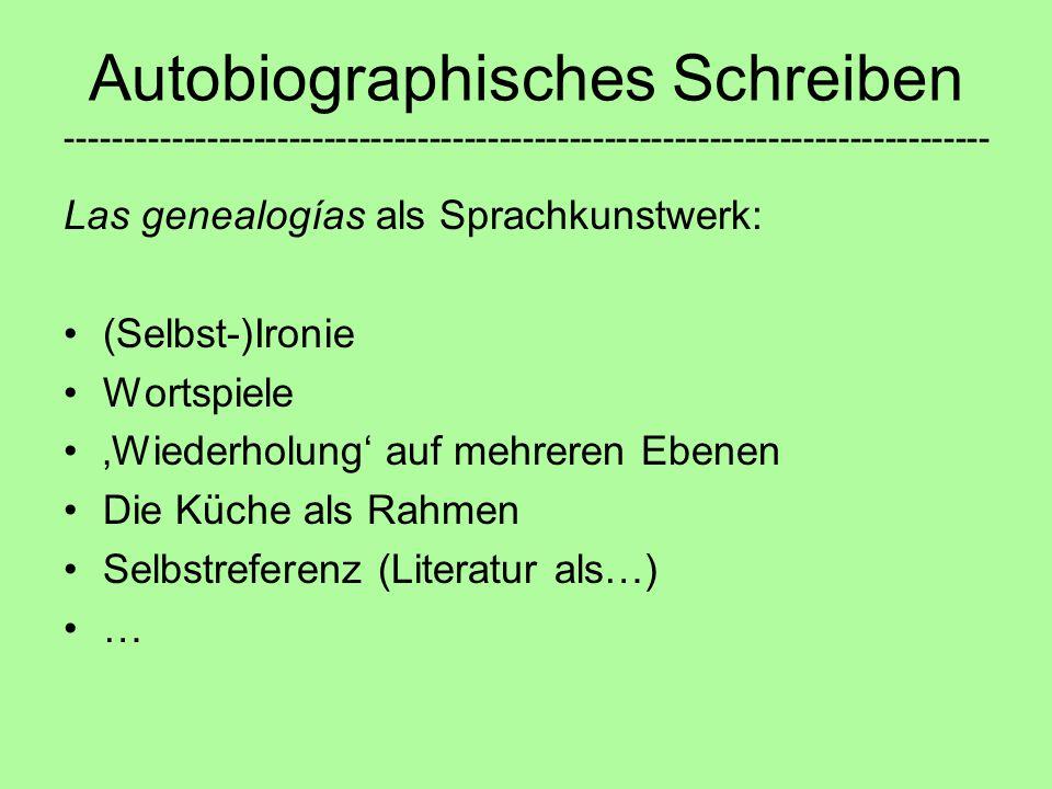 Autobiographisches Schreiben -------------------------------------------------------------------------------