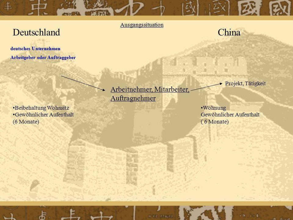 Deutschland China Arbeitnehmer, Mitarbeiter, Auftragnehmer