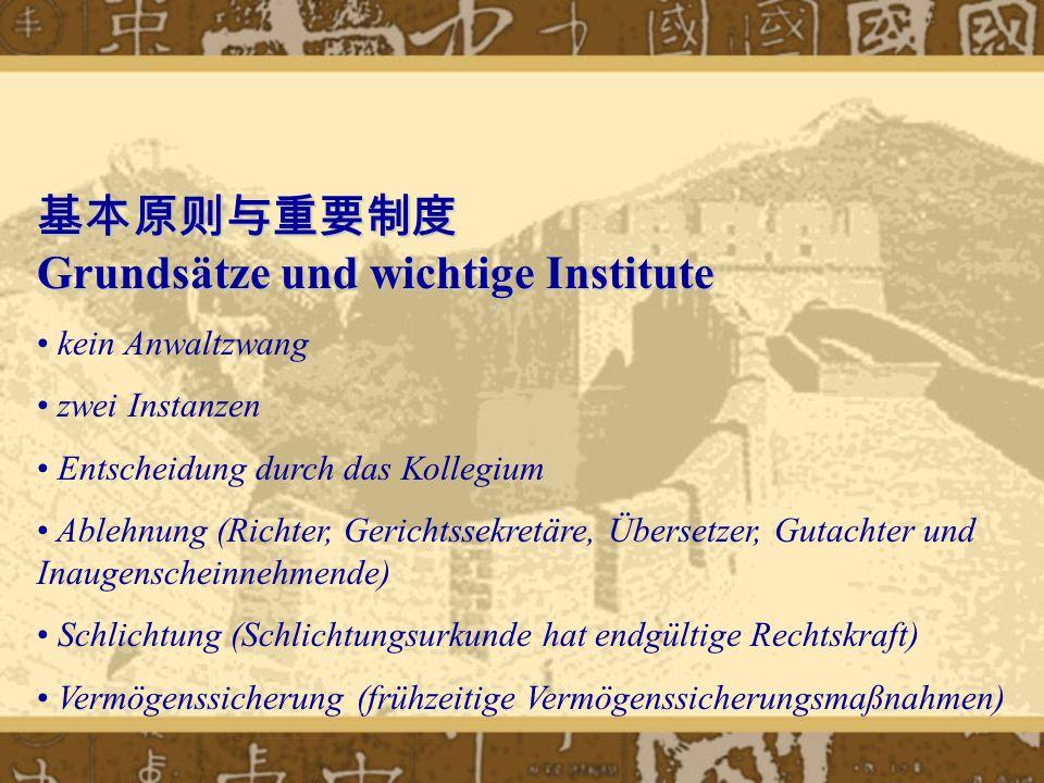 基本原则与重要制度 Grundsätze und wichtige Institute