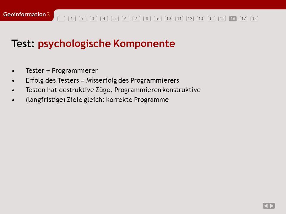 Test: psychologische Komponente