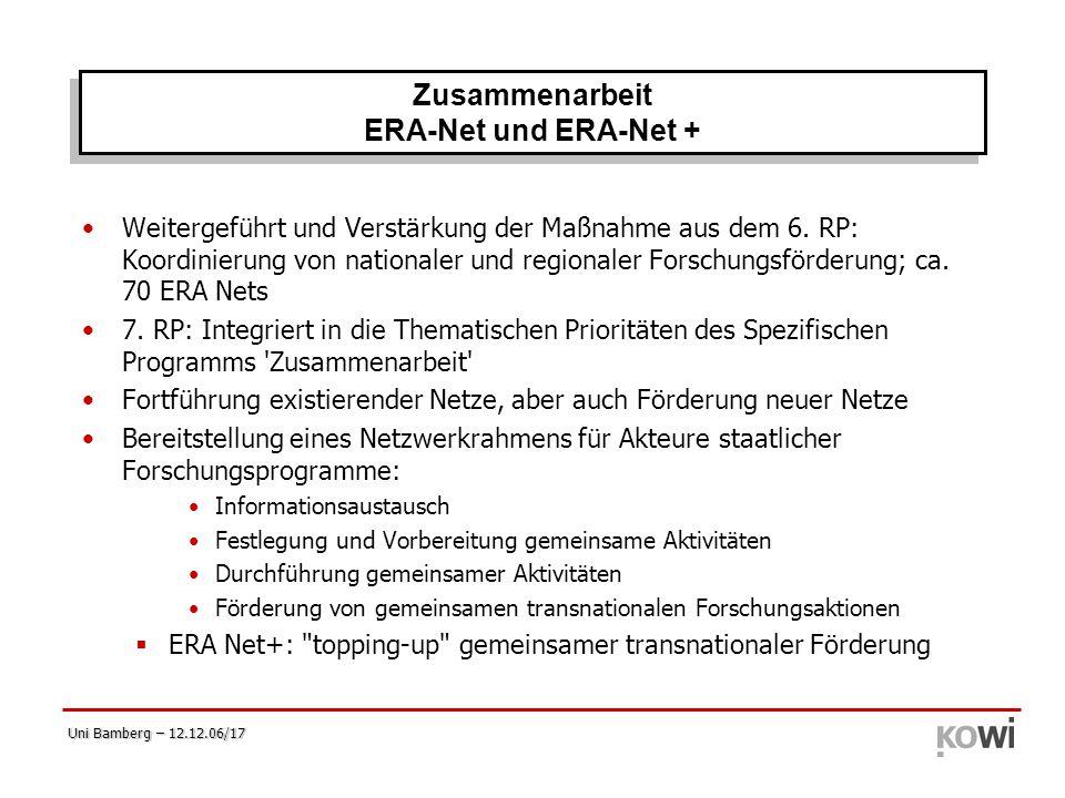 Zusammenarbeit ERA-Net und ERA-Net +