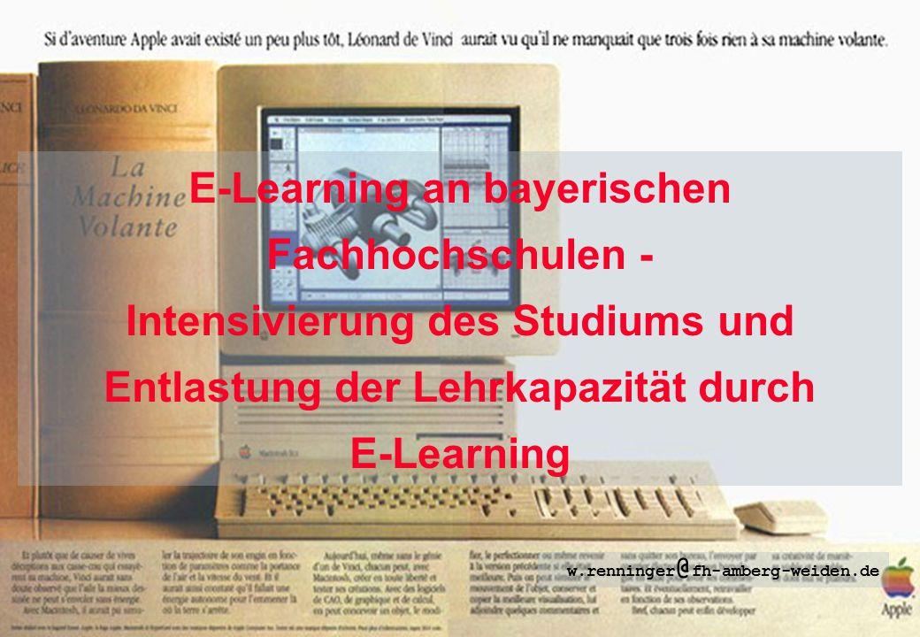 E-Learning an bayerischen Fachhochschulen -