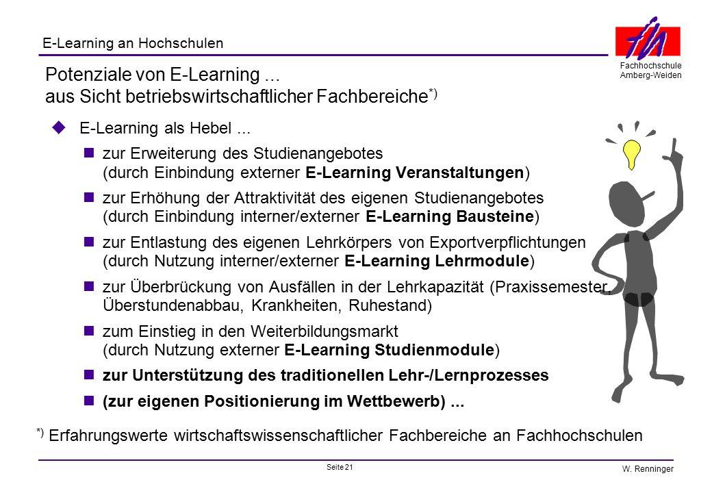 Potenziale von E-Learning