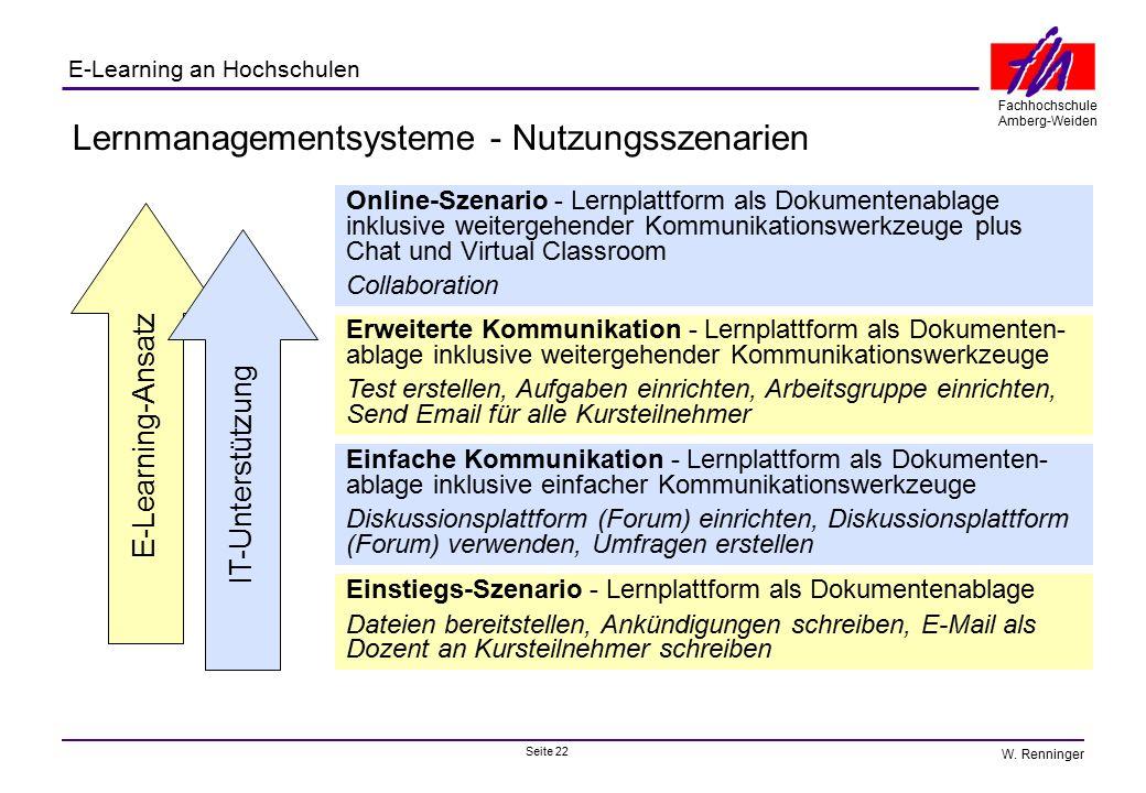 Lernmanagementsysteme - Nutzungsszenarien