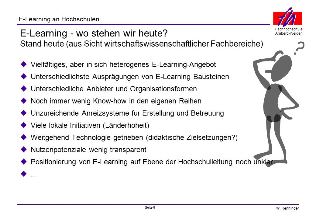 E-Learning - wo stehen wir heute