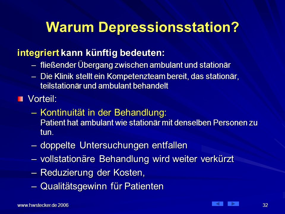 Warum Depressionsstation