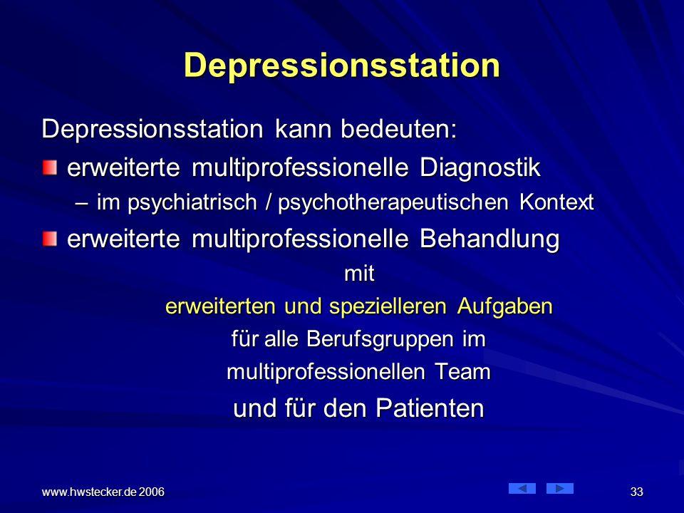 Depressionsstation Depressionsstation kann bedeuten: