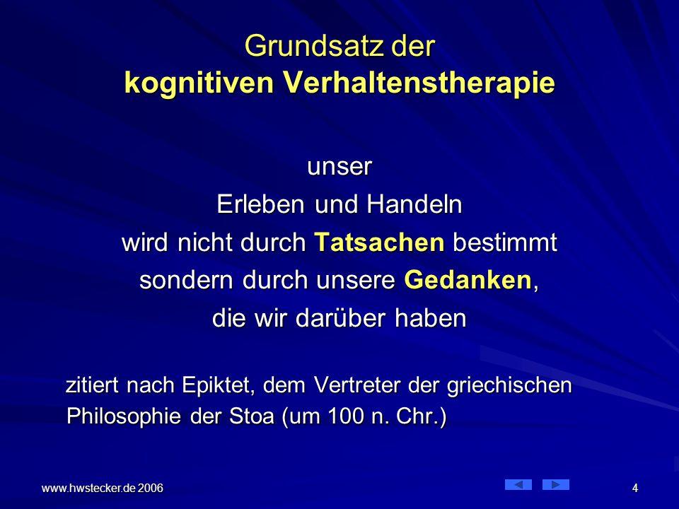 Grundsatz der kognitiven Verhaltenstherapie