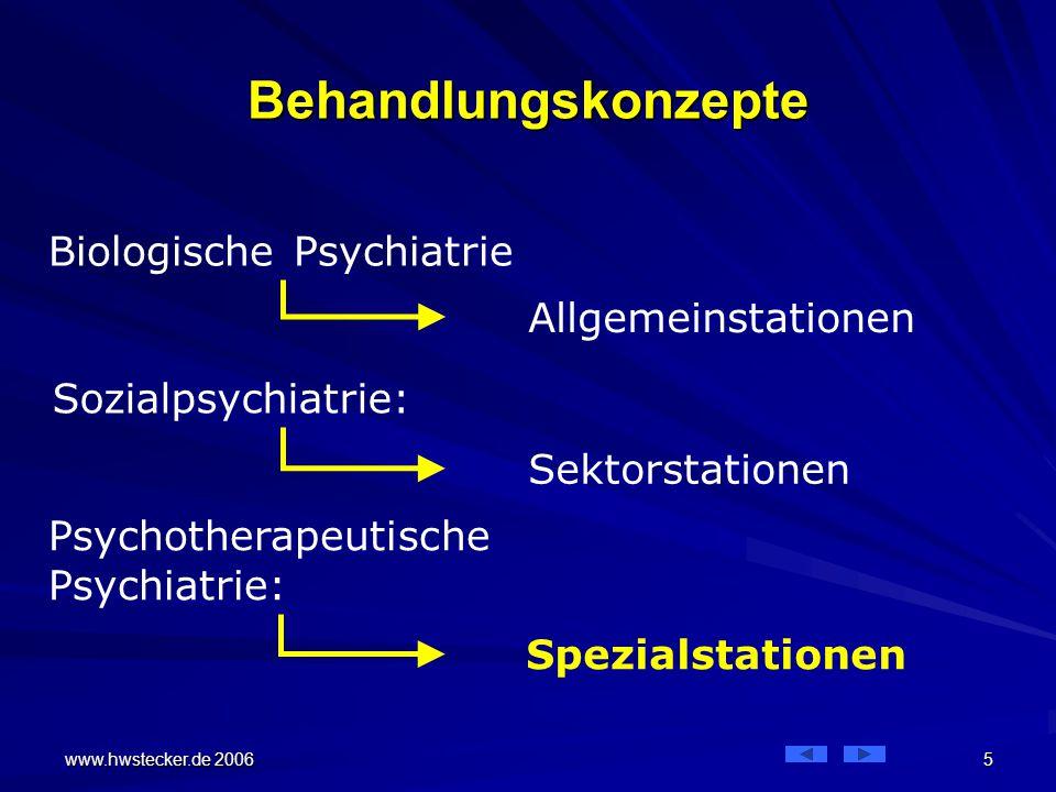 Behandlungskonzepte Biologische Psychiatrie Allgemeinstationen