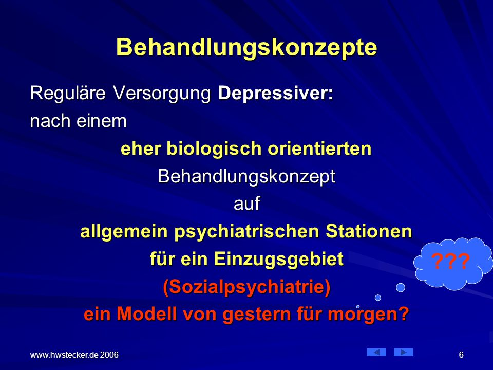 Behandlungskonzepte Reguläre Versorgung Depressiver: nach einem