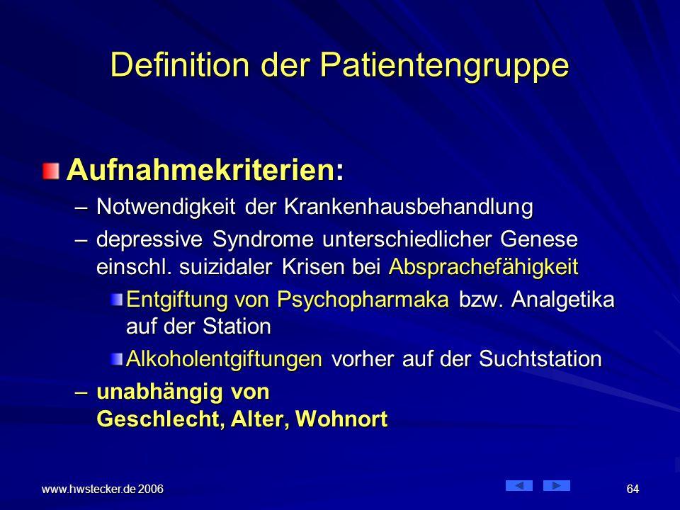 Definition der Patientengruppe