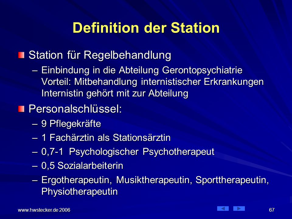 Definition der Station