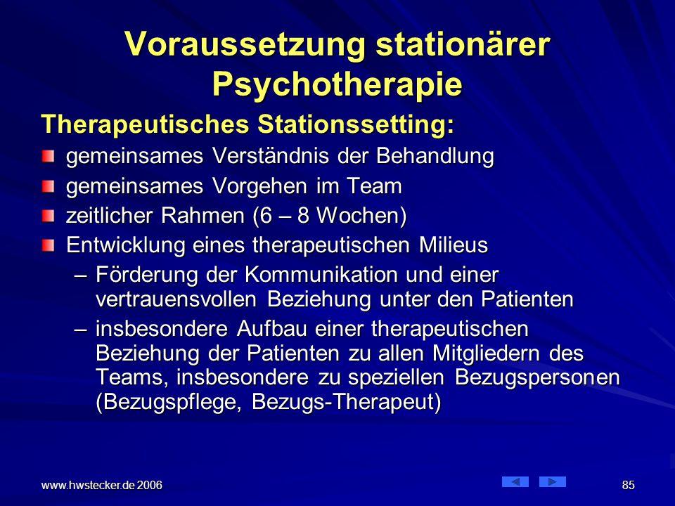 Voraussetzung stationärer Psychotherapie