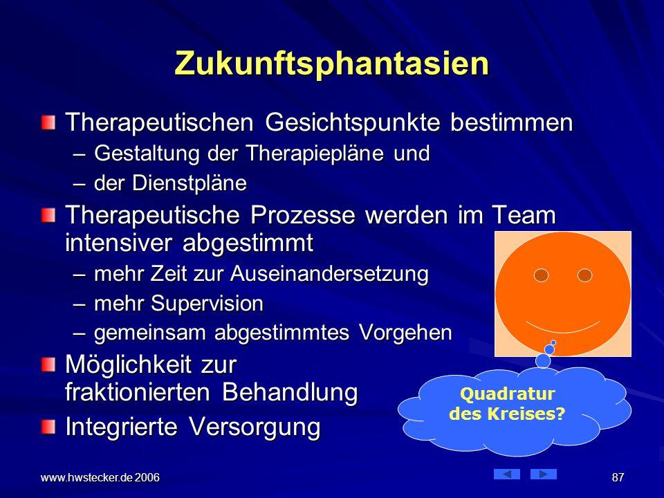 Zukunftsphantasien Therapeutischen Gesichtspunkte bestimmen