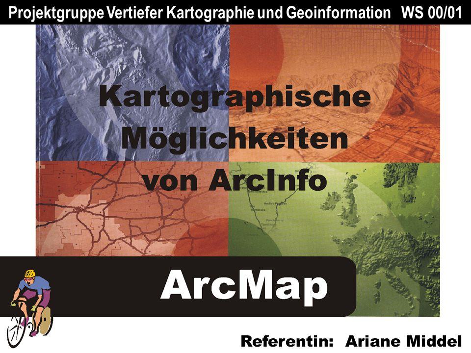 Projektgruppe Vertiefer Kartographie und Geoinformation WS 00/01