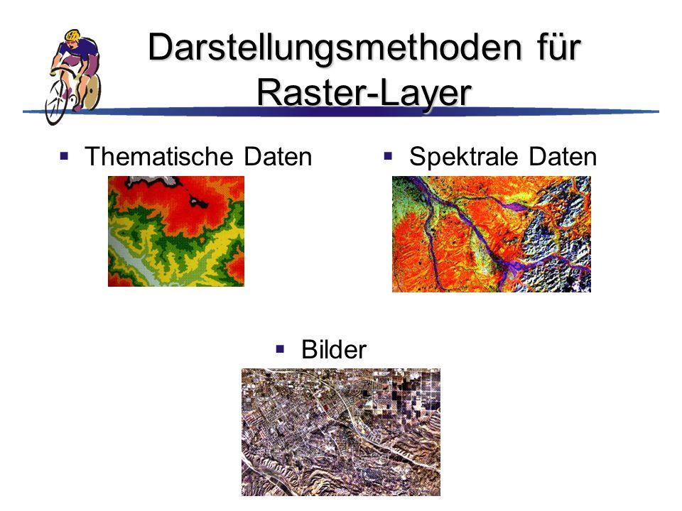 Darstellungsmethoden für Raster-Layer
