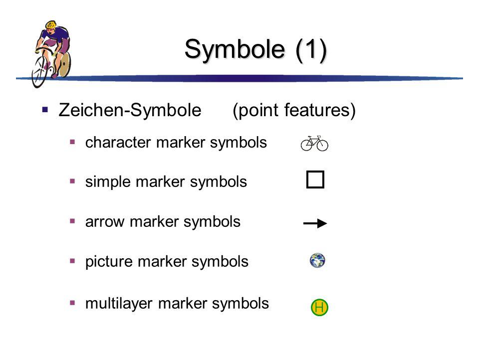 Symbole (1) Zeichen-Symbole (point features) character marker symbols