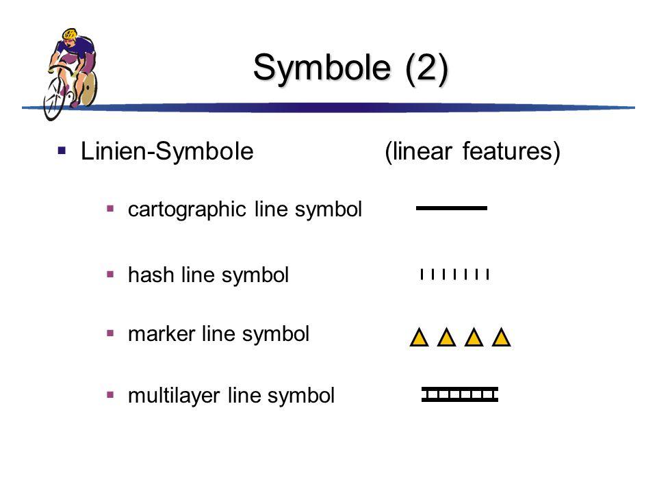 Symbole (2) Linien-Symbole (linear features) cartographic line symbol