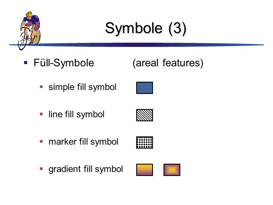 Symbole (3) Füll-Symbole (areal features) simple fill symbol