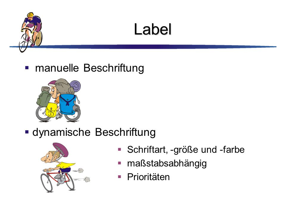 Label manuelle Beschriftung dynamische Beschriftung
