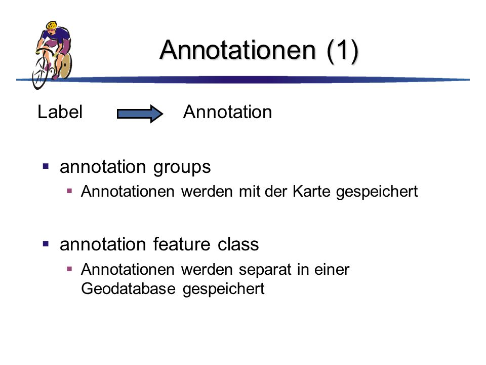 Annotationen (1) Label Annotation annotation groups