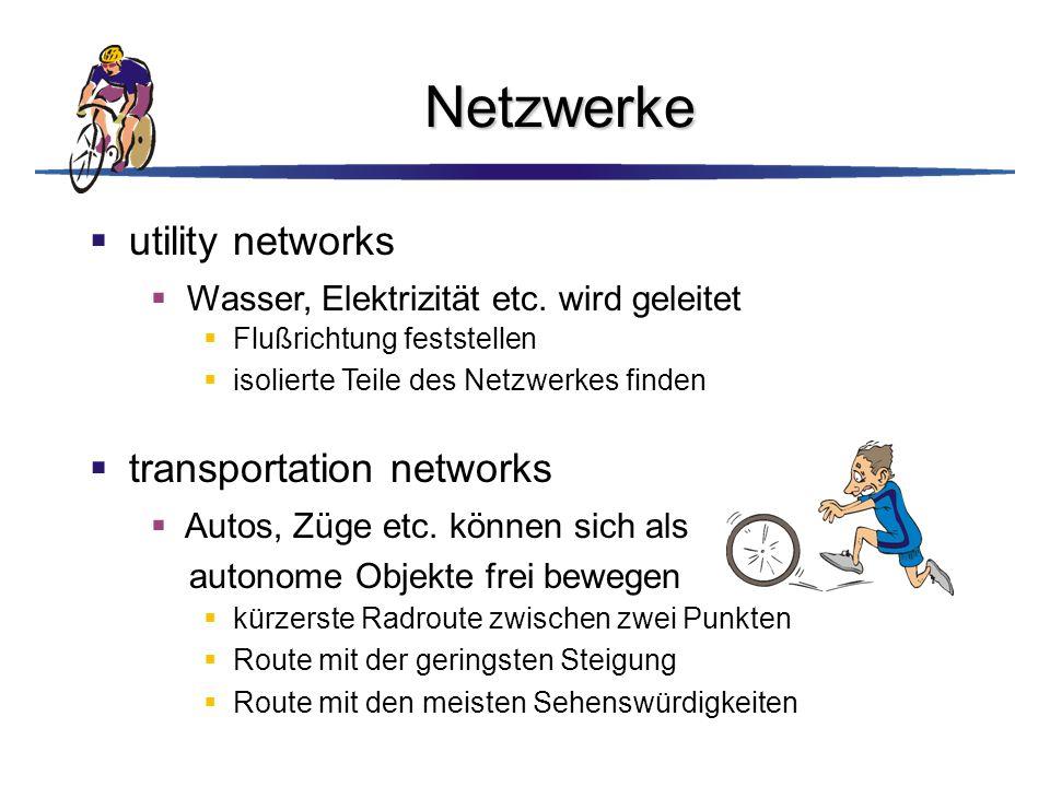 Netzwerke utility networks transportation networks