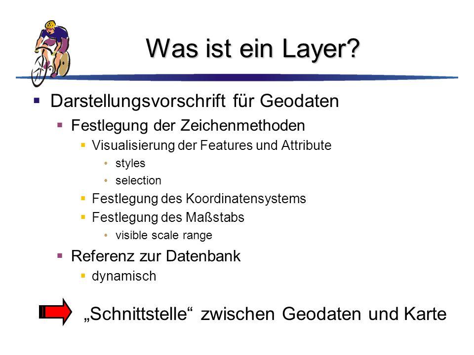 Was ist ein Layer Darstellungsvorschrift für Geodaten