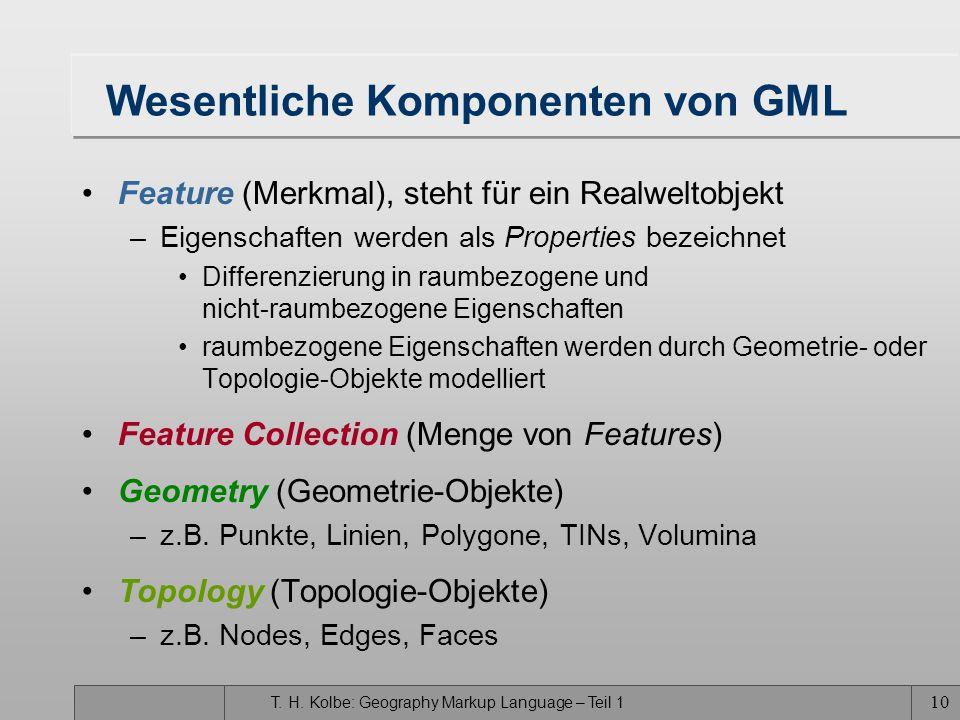 Wesentliche Komponenten von GML