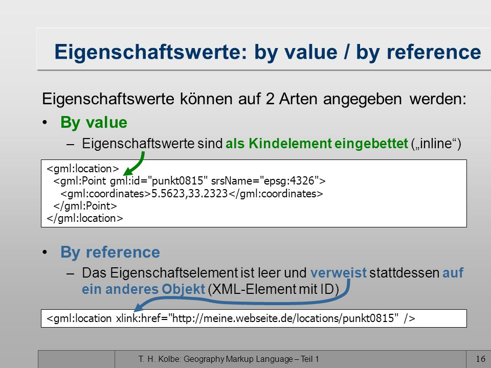 Eigenschaftswerte: by value / by reference