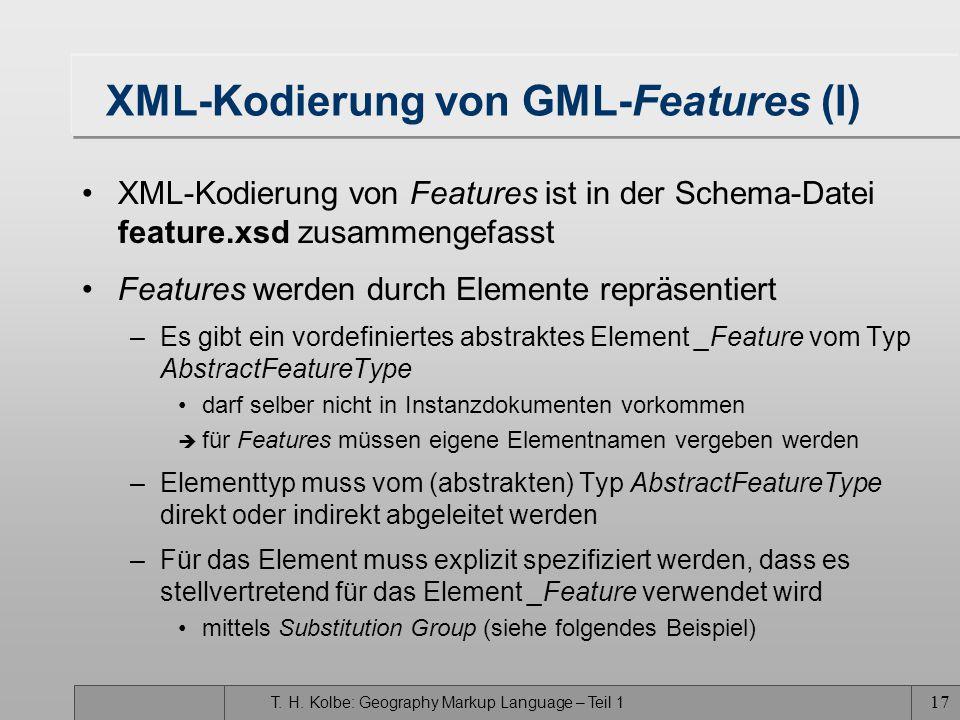 XML-Kodierung von GML-Features (I)