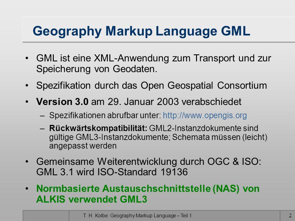 Geography Markup Language GML