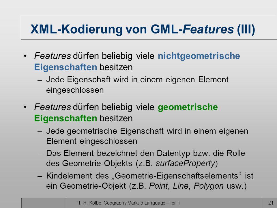 XML-Kodierung von GML-Features (III)