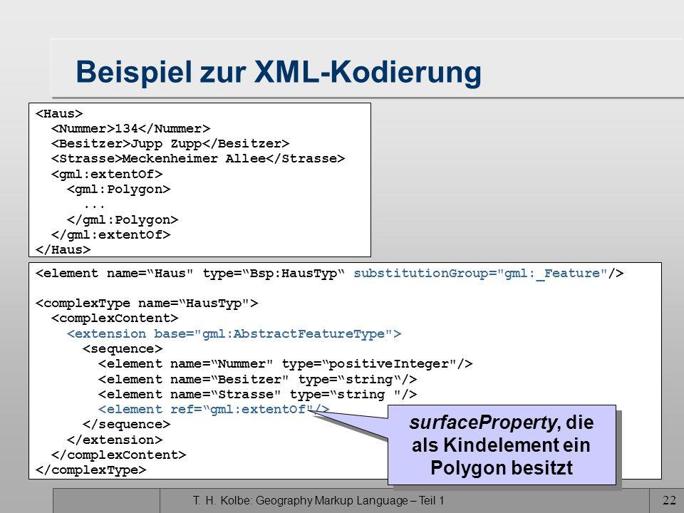 Beispiel zur XML-Kodierung