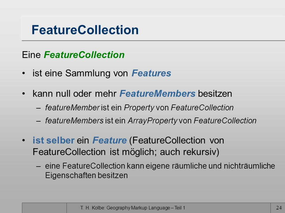 FeatureCollection Eine FeatureCollection