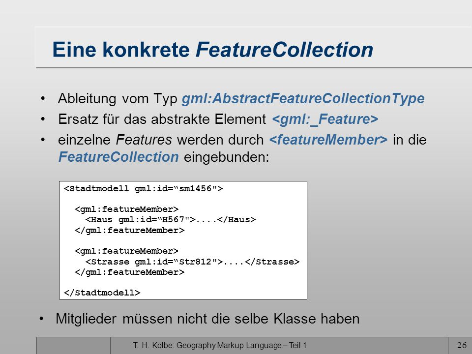 Eine konkrete FeatureCollection