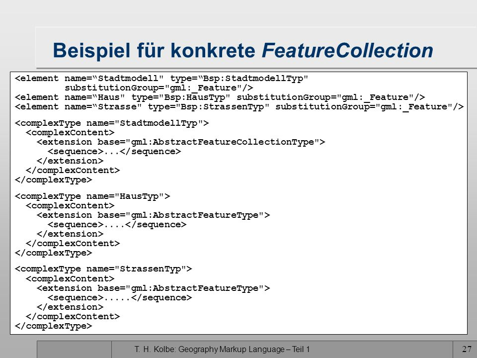 Beispiel für konkrete FeatureCollection