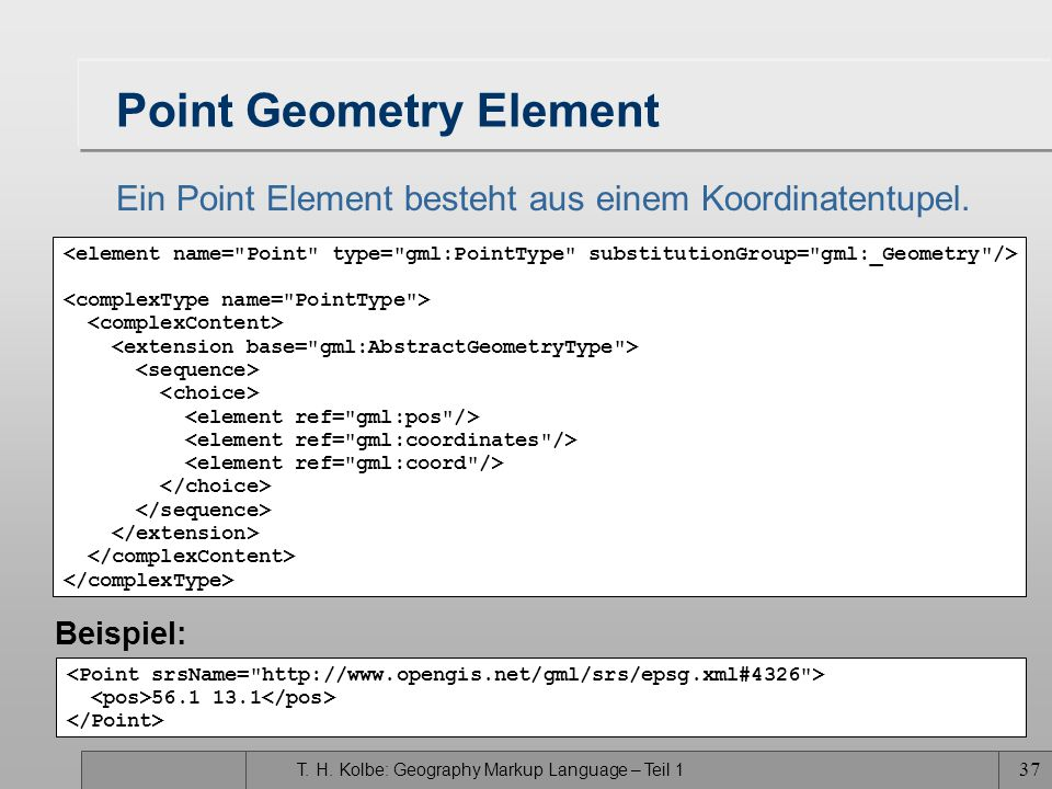 Point Geometry Element