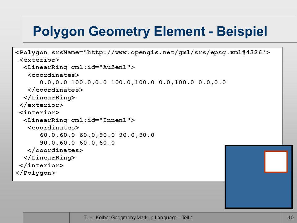 Polygon Geometry Element - Beispiel