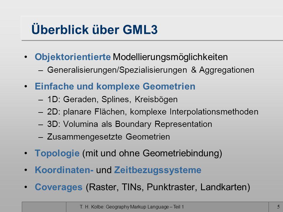 Überblick über GML3 Objektorientierte Modellierungsmöglichkeiten