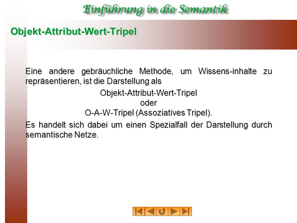 Objekt-Attribut-Wert-Tripel