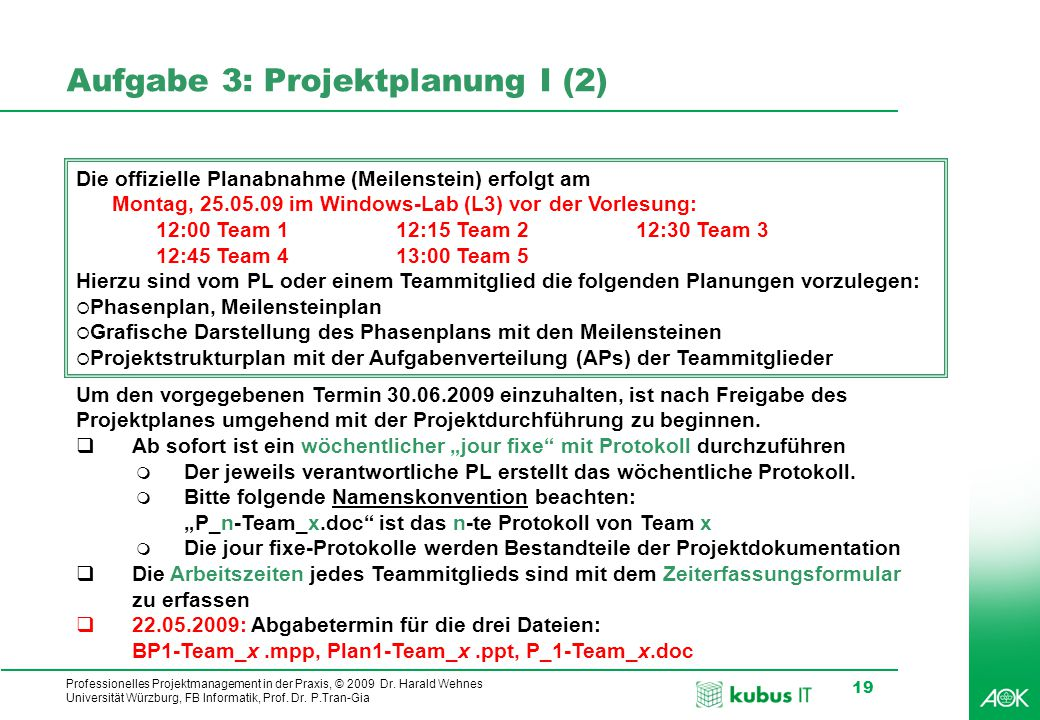 Aufgabe 3: Projektplanung I (2)