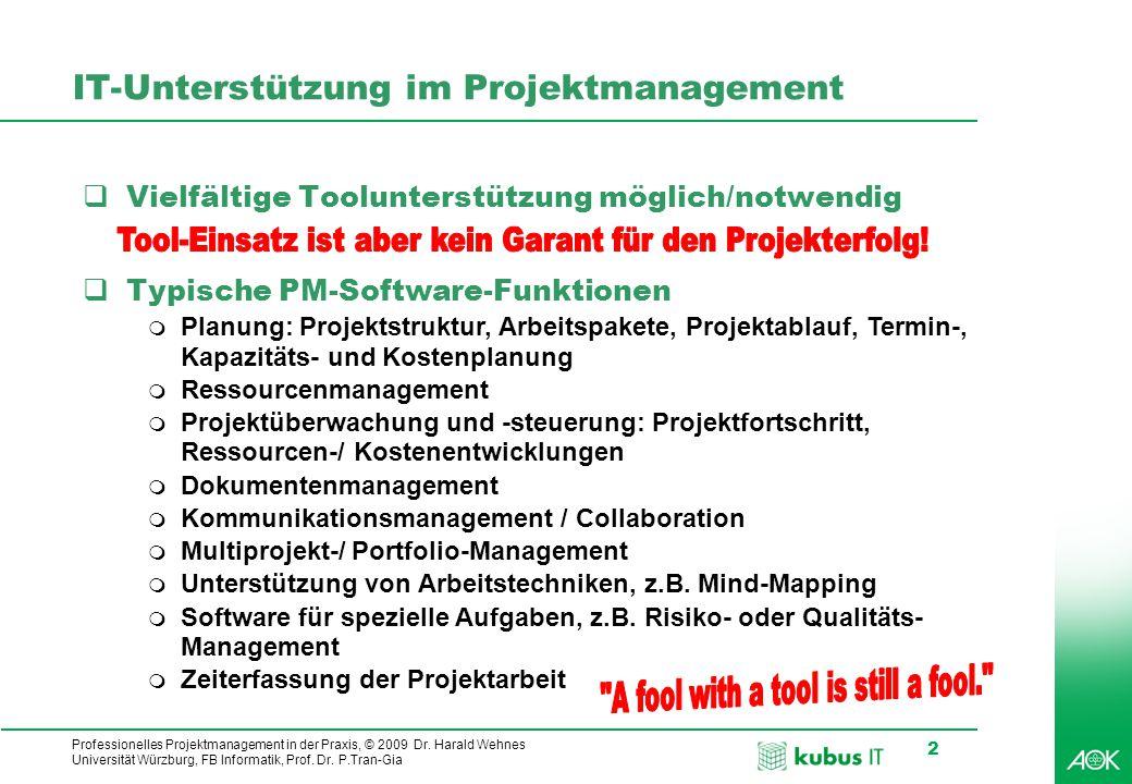 IT-Unterstützung im Projektmanagement