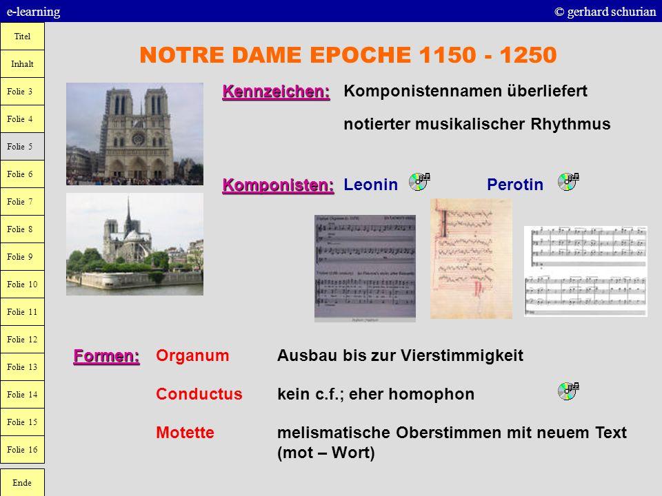NOTRE DAME EPOCHE 1150 - 1250 Kennzeichen: