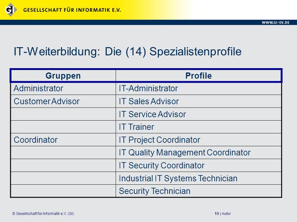 IT-Weiterbildung: Die (14) Spezialistenprofile