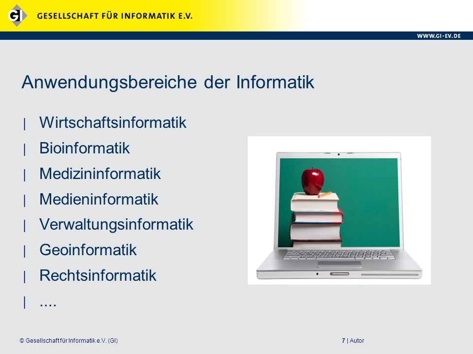 Anwendungsbereiche der Informatik