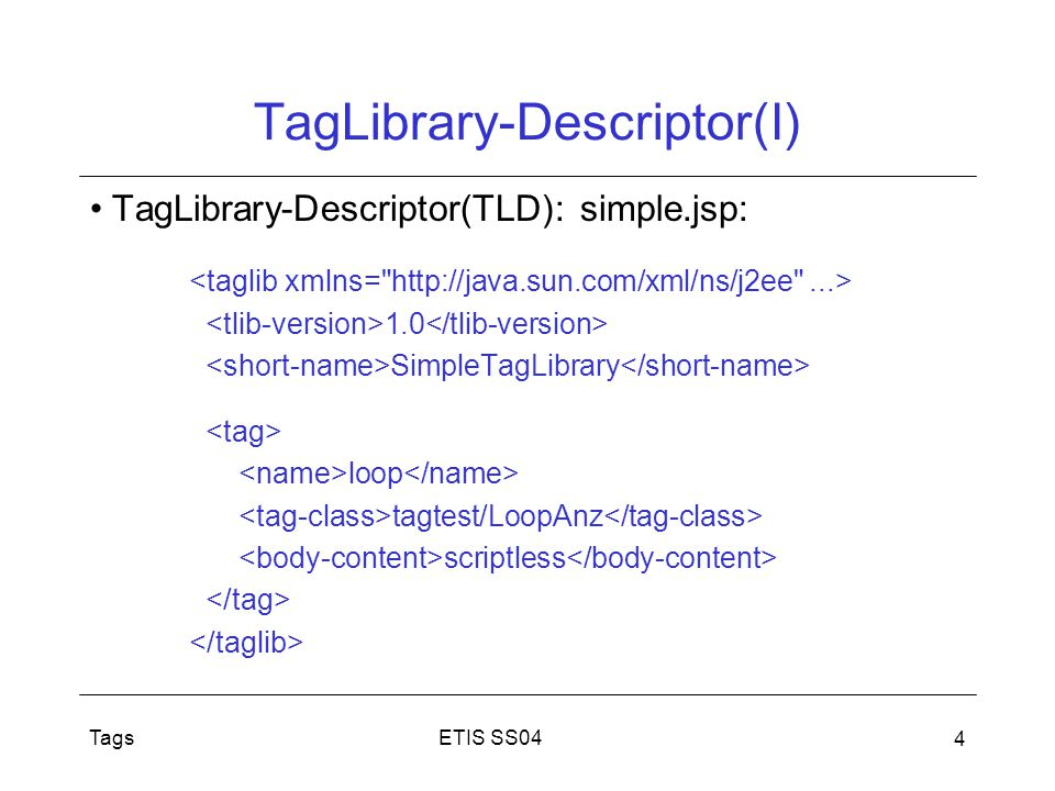 TagLibrary-Descriptor(I)