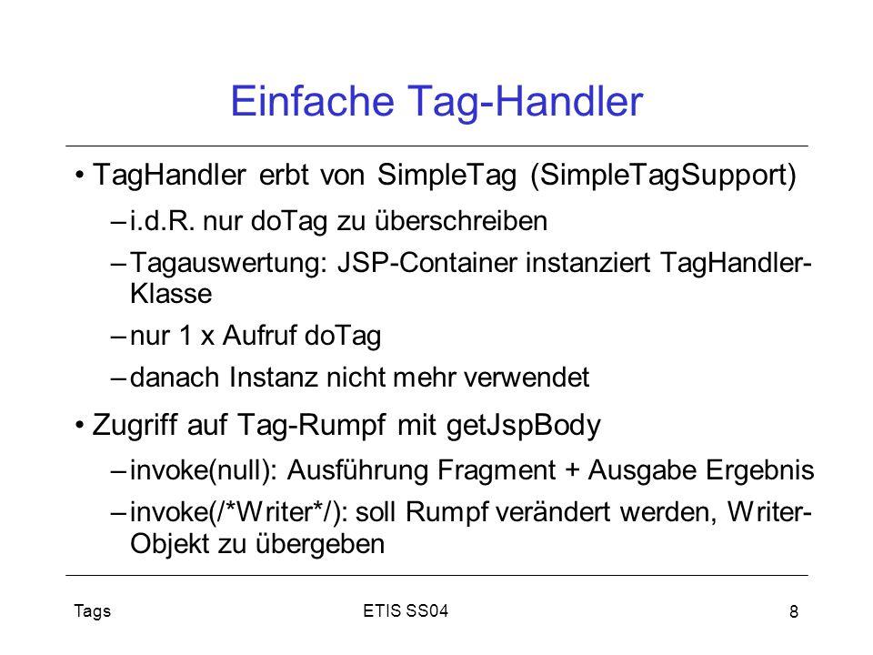Einfache Tag-Handler TagHandler erbt von SimpleTag (SimpleTagSupport)