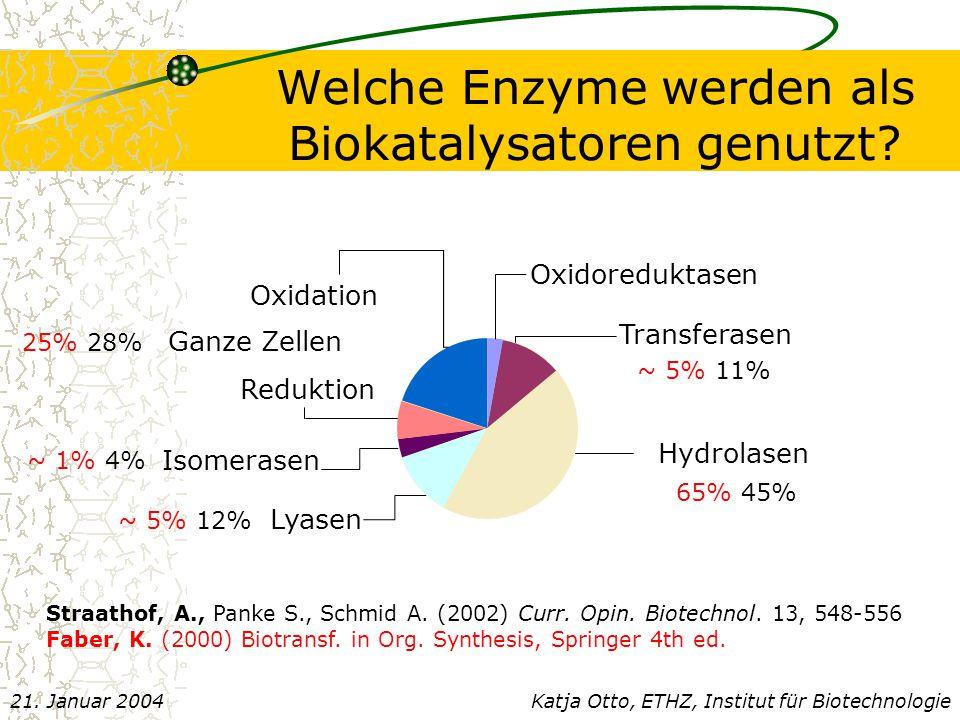 Welche Enzyme werden als Biokatalysatoren genutzt